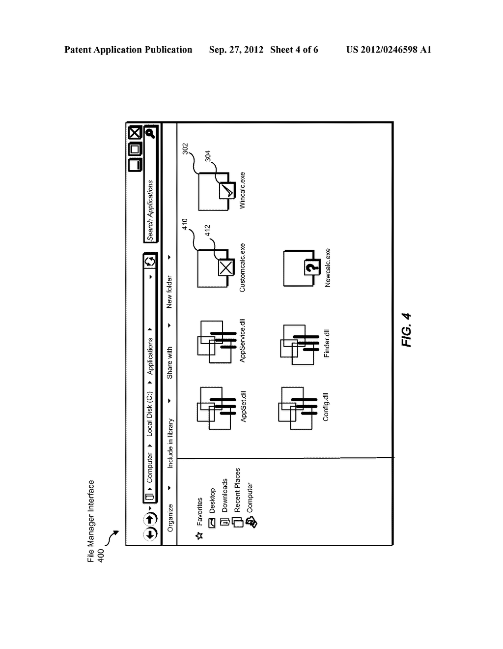 SYSTEMS AND METHODS FOR DISPLAYING TRUSTWORTHINESS CLASSIFICATIONS FOR     FILES AS VISUALLY OVERLAID ICONS - diagram, schematic, and image 05