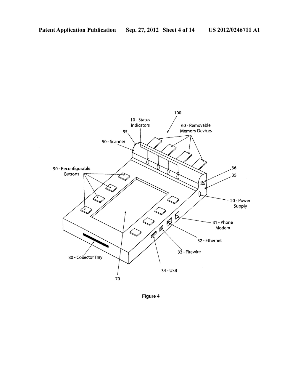 PORTABLE MULTI-MEDIA AUTOMATIC AUTHENTICATING ROUTER AND METHOD FOR     AUTOMATICALLY ROUTING STORED DATA - diagram, schematic, and image 05