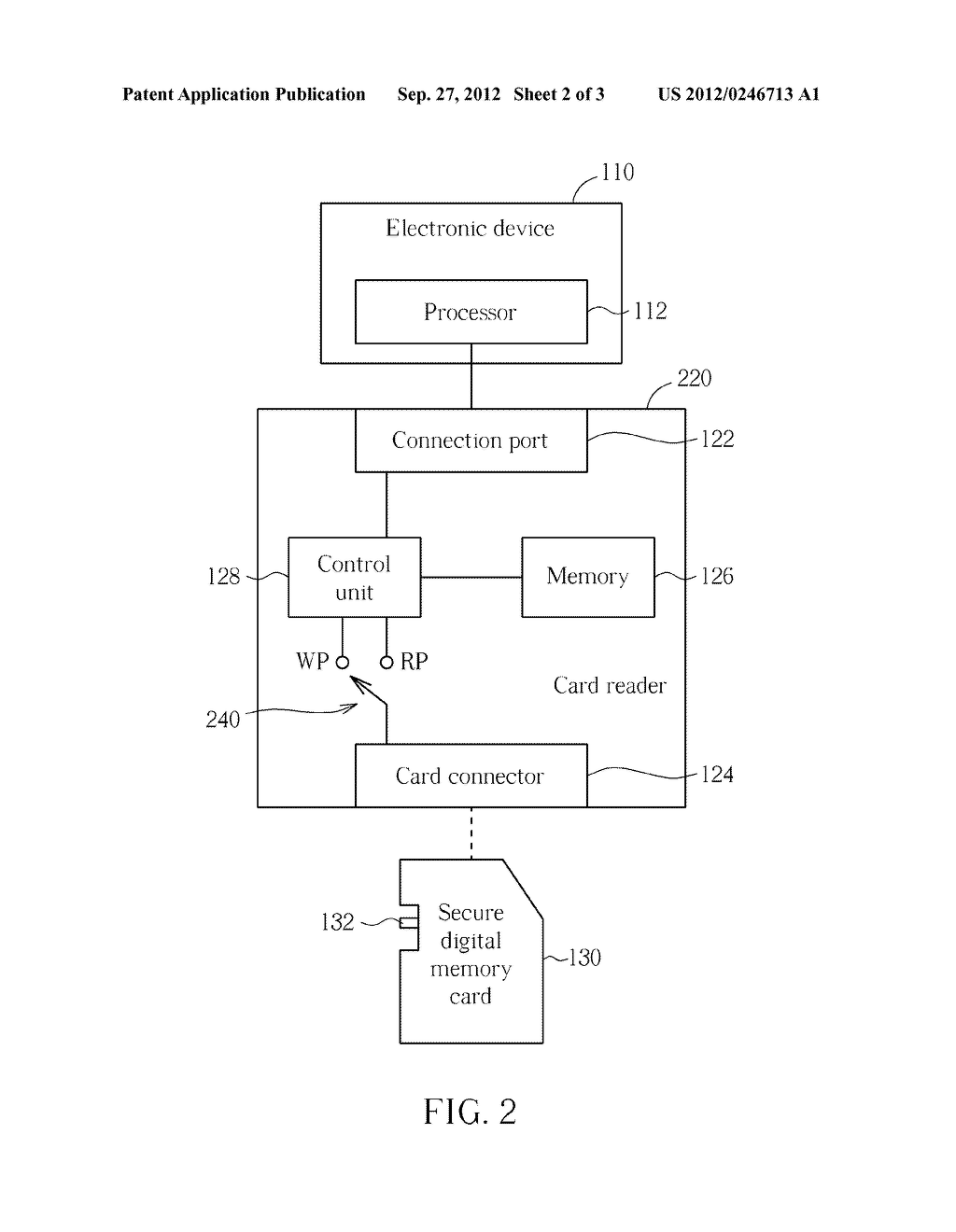 METHOD AND APPARATUS FOR CONTROLLING ACCESS OF A SECURE DIGITAL MEMORY     CARD - diagram, schematic, and image 03