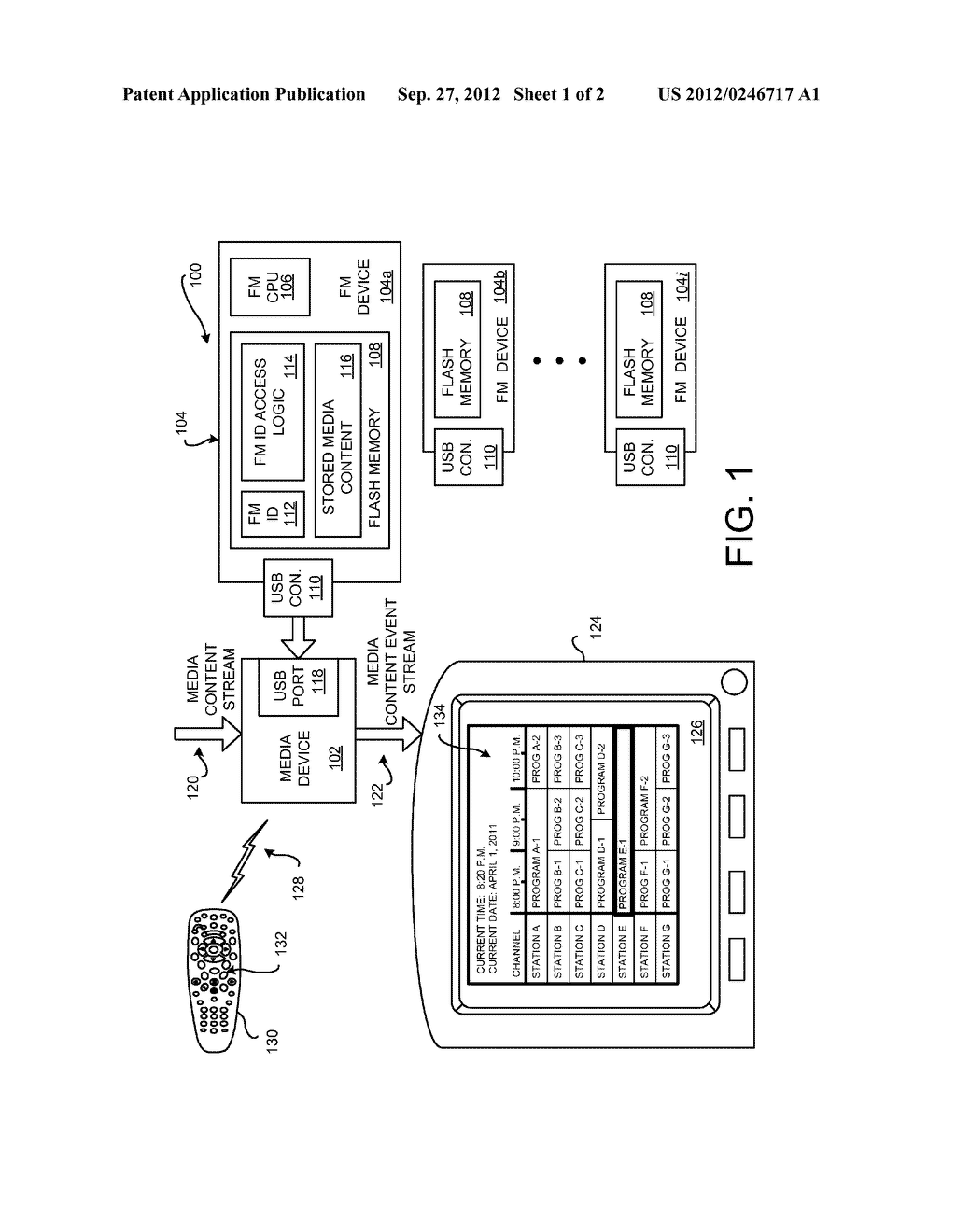 APPARATUS, SYSTEMS AND METHODS FOR SECURELY STORING MEDIA CONTENT EVENTS     ON A FLASH MEMORY DEVICE - diagram, schematic, and image 02