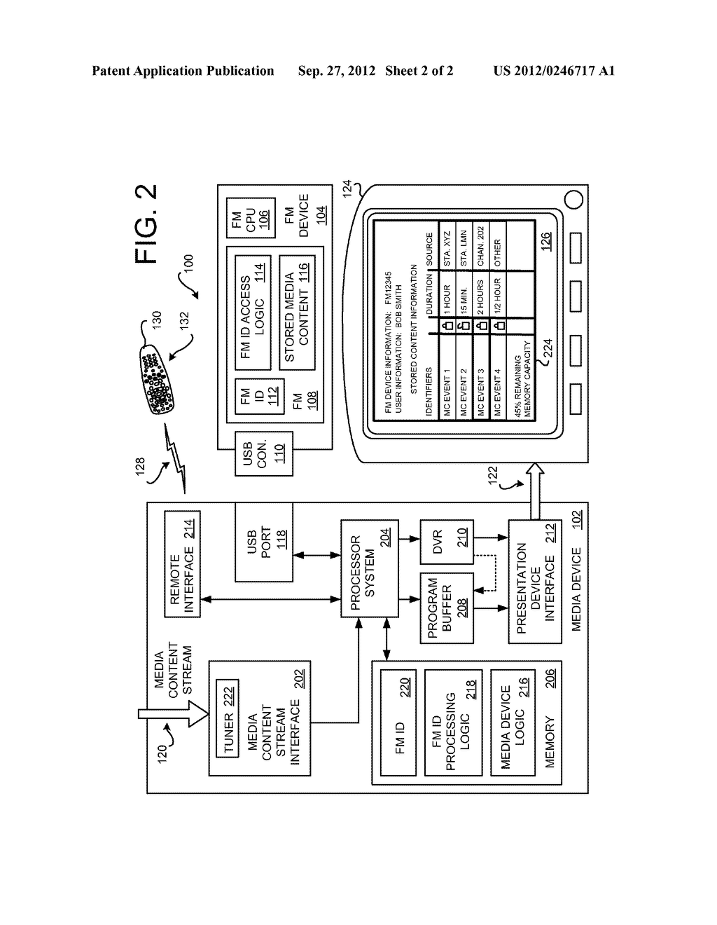 APPARATUS, SYSTEMS AND METHODS FOR SECURELY STORING MEDIA CONTENT EVENTS     ON A FLASH MEMORY DEVICE - diagram, schematic, and image 03