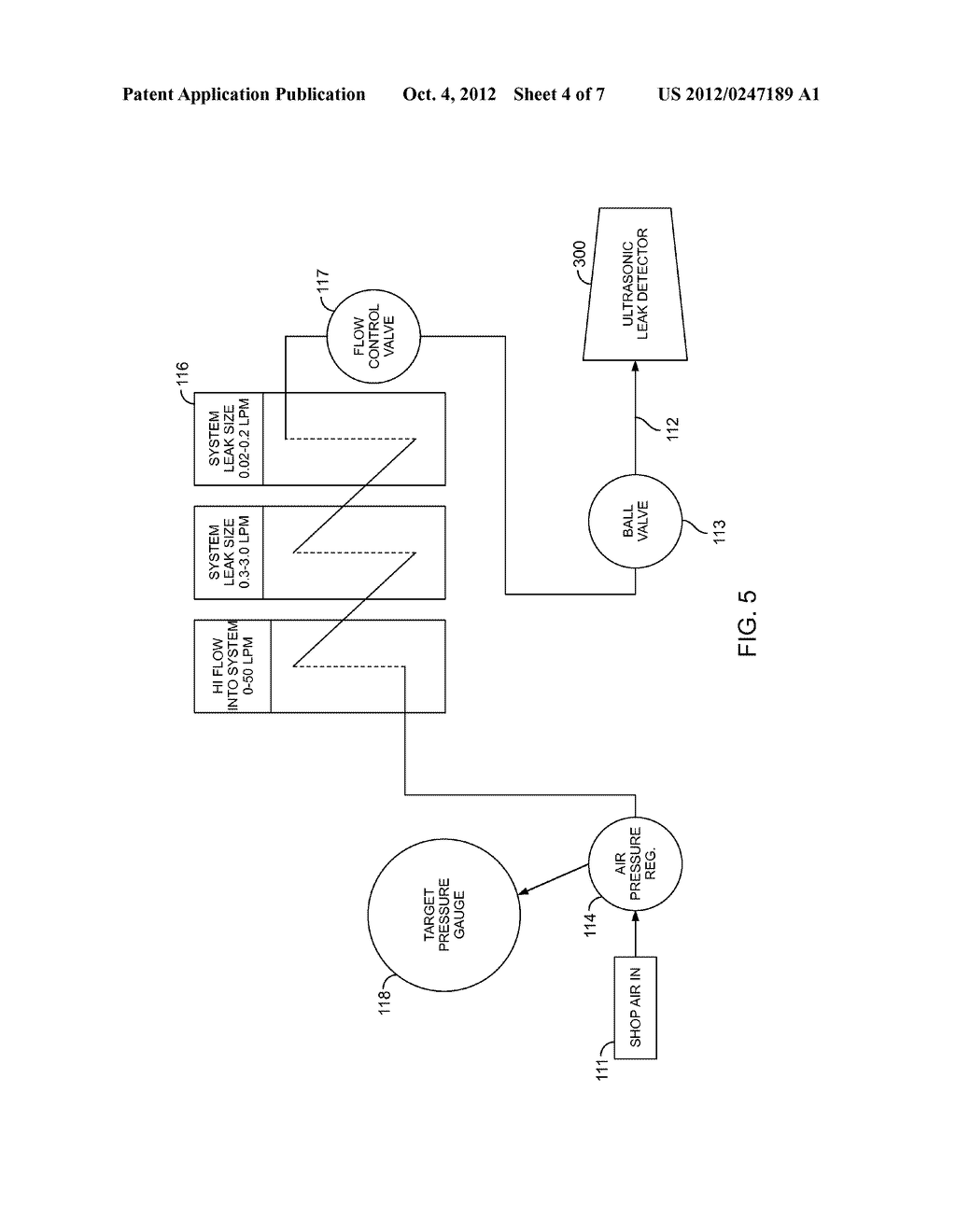 METHOD OF MEASURING THE SIZE OF A LEAK IN A PNEUMATIC AIR CIRCUIT AND A     RELATED DEVICE - diagram, schematic, and image 05