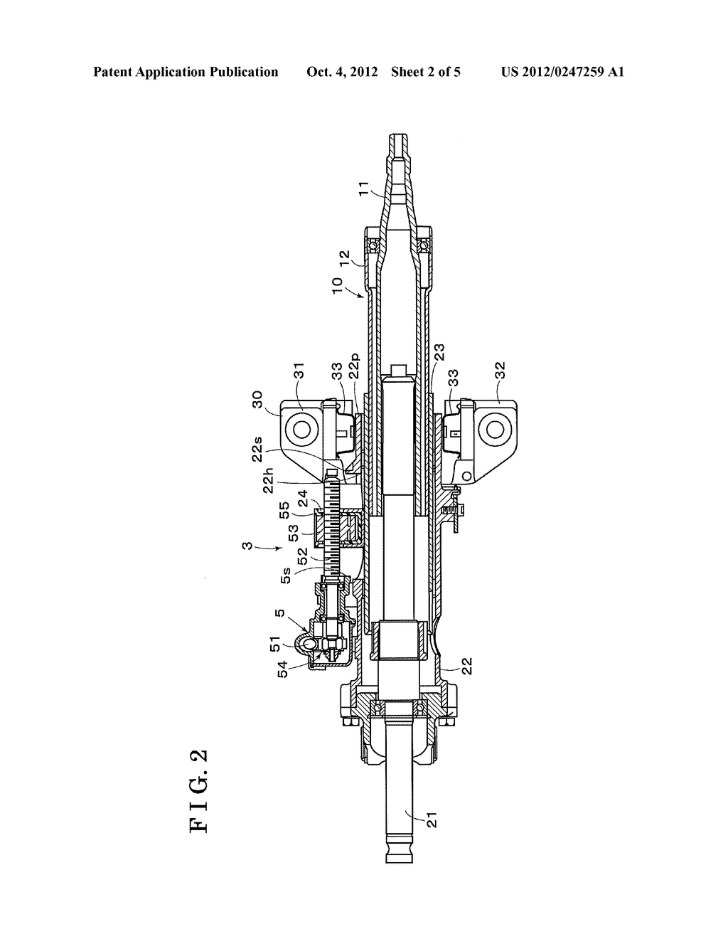 STEERING APPARATUS FOR VEHICLE - diagram, schematic, and image 03