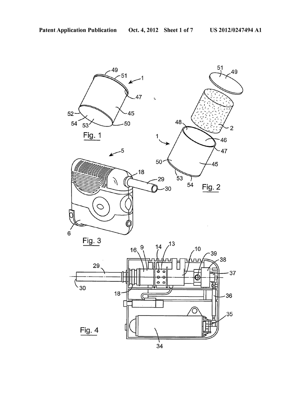 CONTAINER COMPRISING VAPORISABLE MATTER FOR USE IN A VAPORISING DEVICE FOR     VAPORISING A VAPORISABLE CONSTITUENT THEREOF - diagram, schematic, and image 02