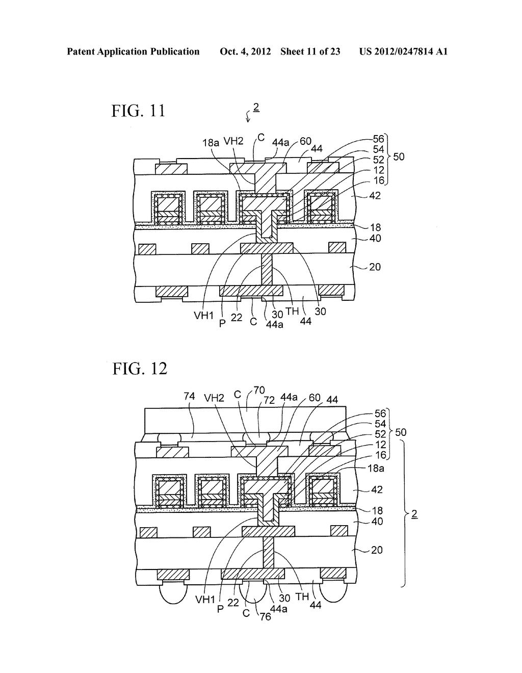 WIRING SUBSTRATE AND METHOD OF MANUFACTURING THE SAME - diagram, schematic, and image 12