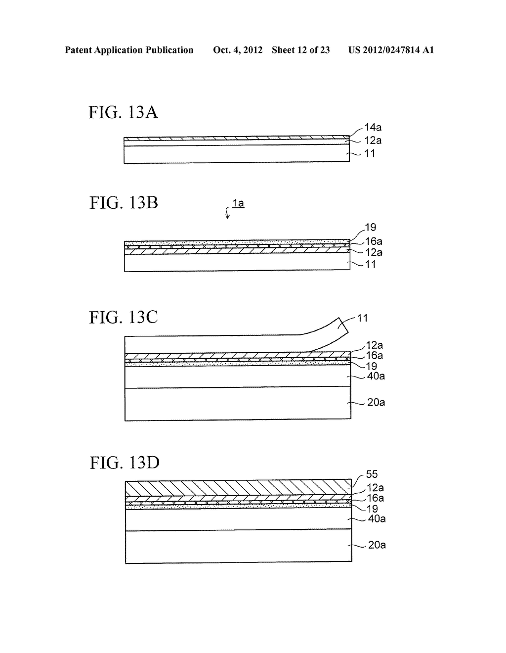 WIRING SUBSTRATE AND METHOD OF MANUFACTURING THE SAME - diagram, schematic, and image 13