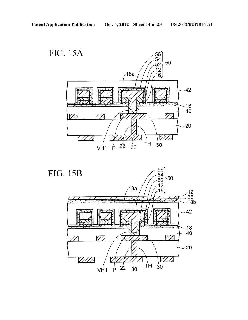 WIRING SUBSTRATE AND METHOD OF MANUFACTURING THE SAME - diagram, schematic, and image 15
