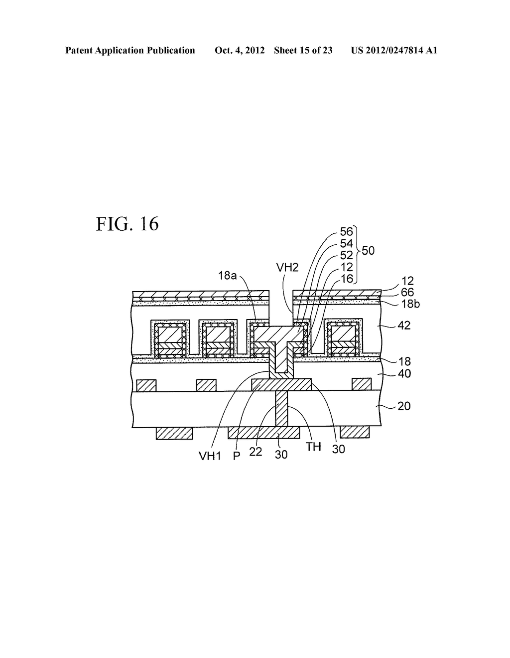 WIRING SUBSTRATE AND METHOD OF MANUFACTURING THE SAME - diagram, schematic, and image 16