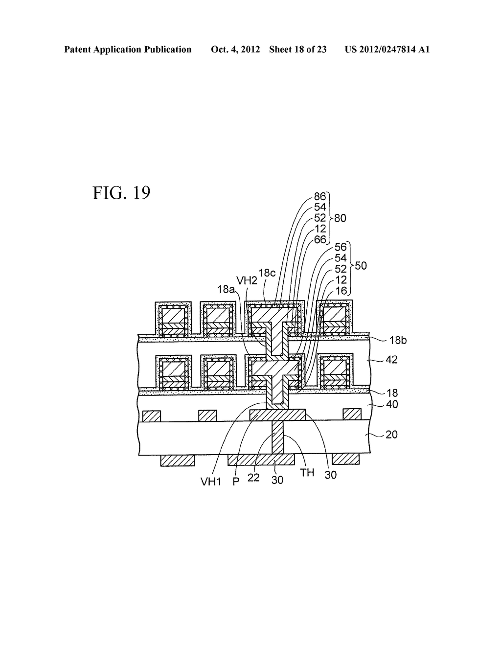 WIRING SUBSTRATE AND METHOD OF MANUFACTURING THE SAME - diagram, schematic, and image 19