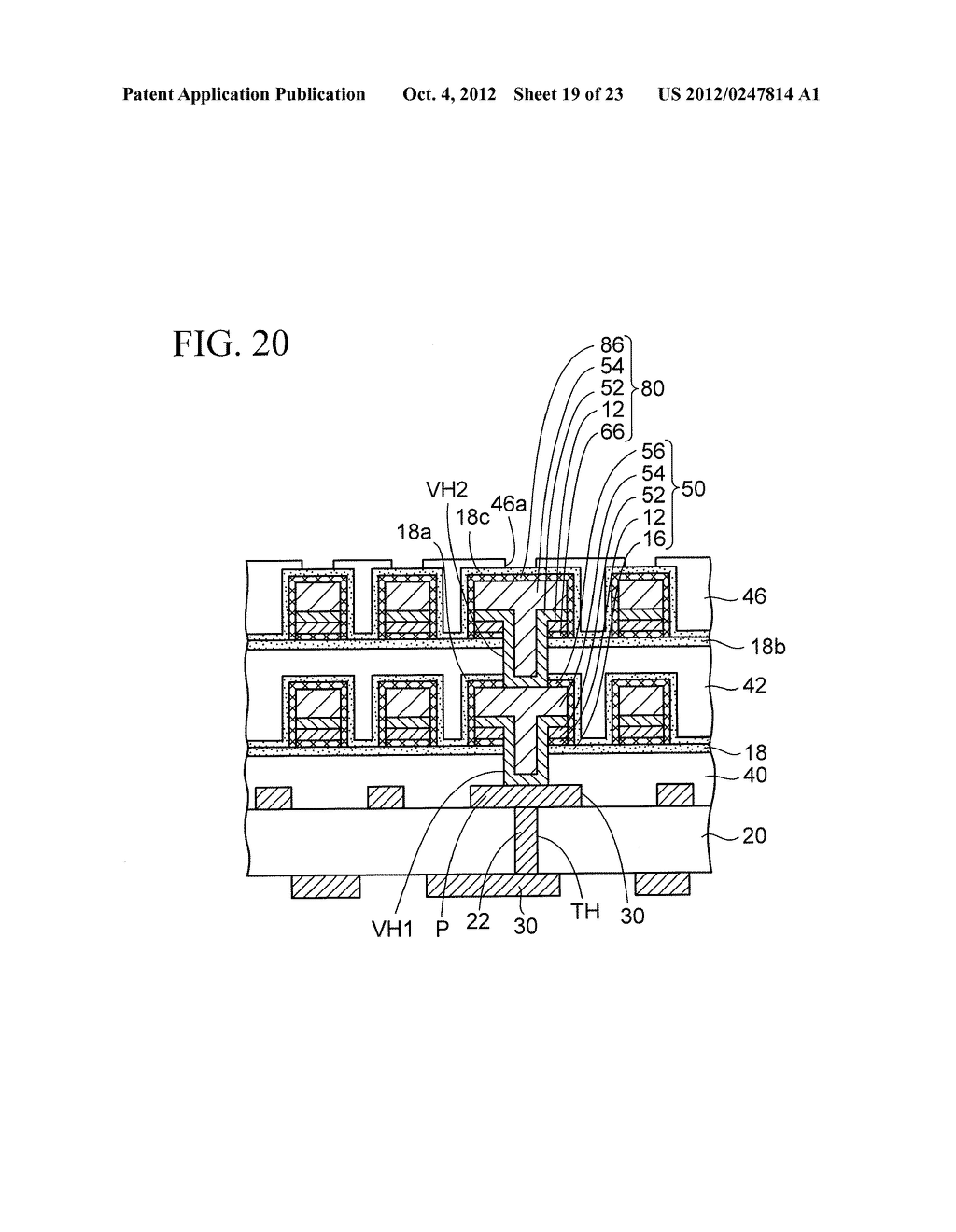 WIRING SUBSTRATE AND METHOD OF MANUFACTURING THE SAME - diagram, schematic, and image 20