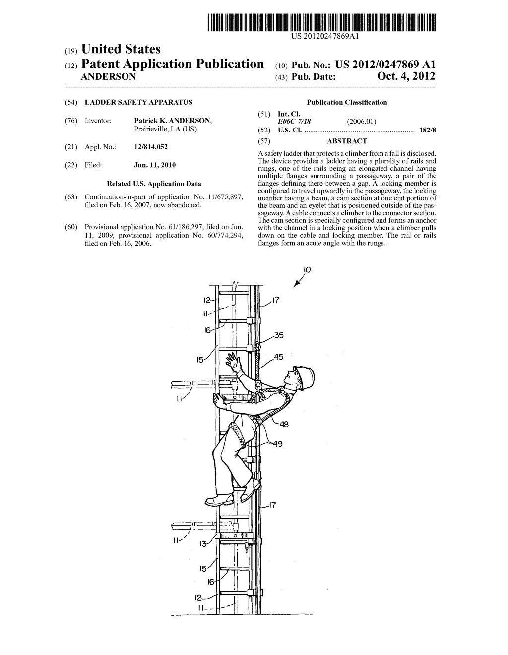 LADDER SAFETY APPARATUS - diagram, schematic, and image 01
