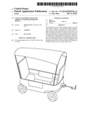 Utility transport wagon for mobility scooter or mobility device diagram and image