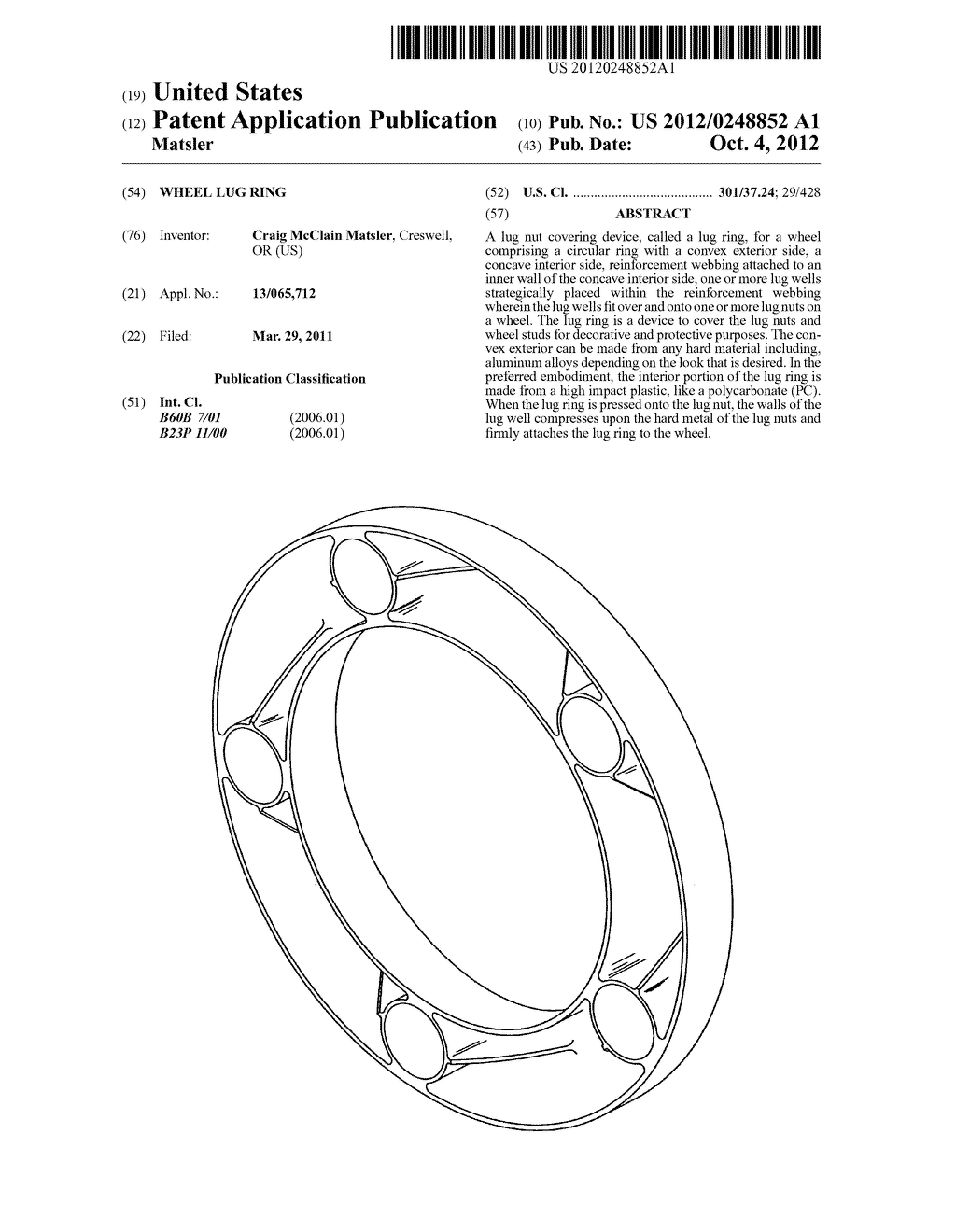 Wheel lug ring - diagram, schematic, and image 01