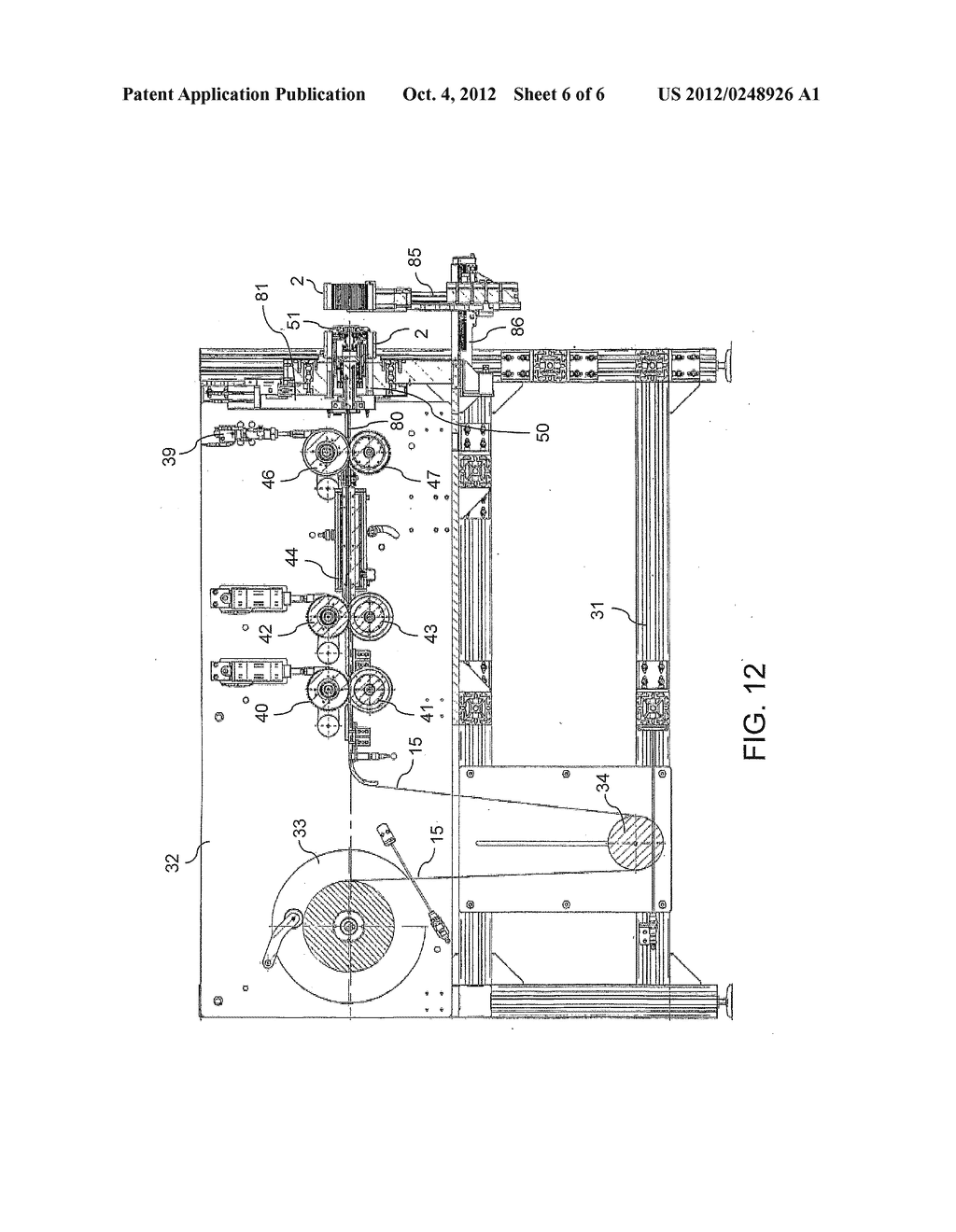 Apparatus And Method For Making Pre-Shaped Insulating Sheets Intended To     Be Inserted Into Stator Or Rotor Slots - diagram, schematic, and image 07