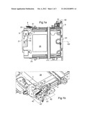 CASING FOR RECEIVING AN EXTRACTIBLE HARD DRIVE AND INCLUDING A ROCKING CAM     FOR EXTRACTING SAID HARD DRIVE diagram and image