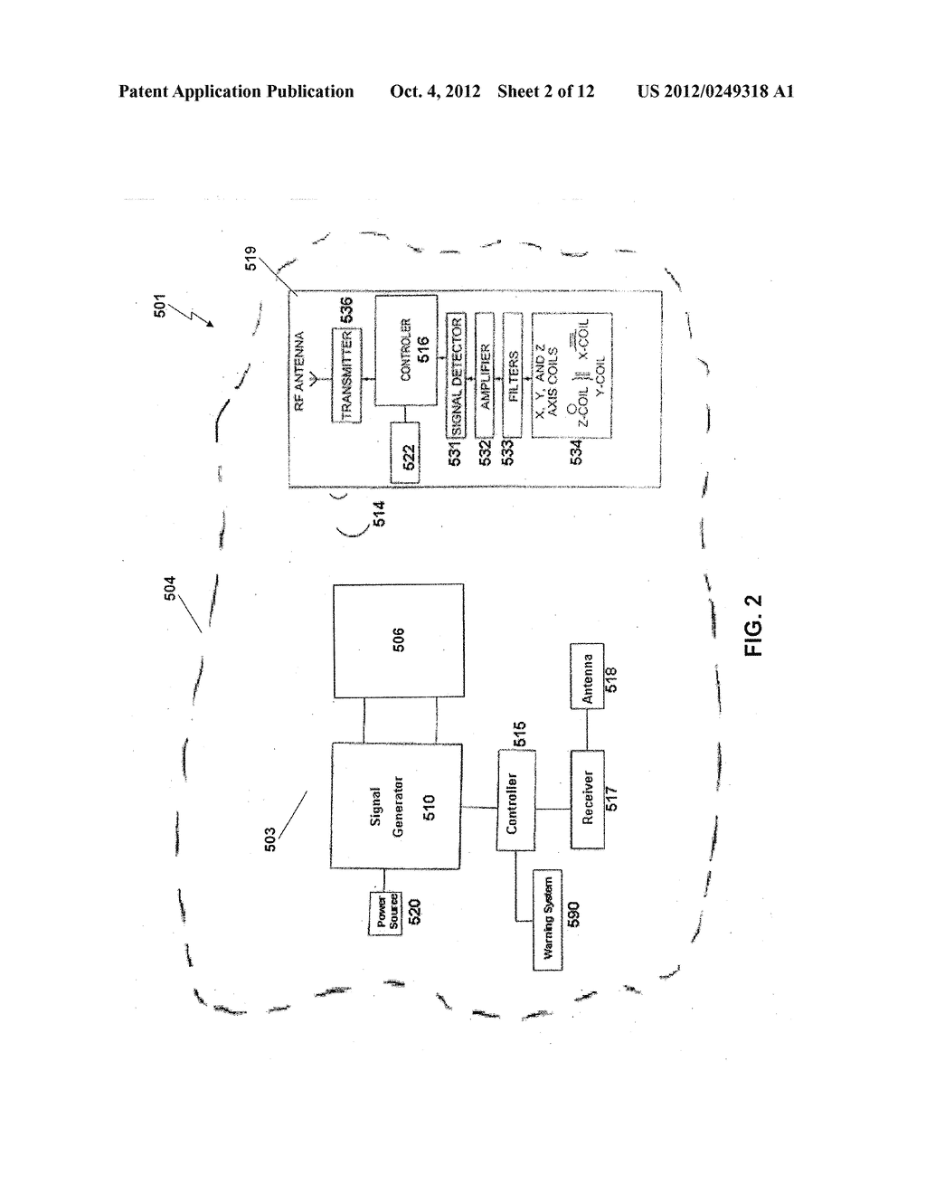 PROXIMITY DETECTION SYSTEMS AND METHOD FOR INTERNAL TRAFFIC CONTROL - diagram, schematic, and image 03