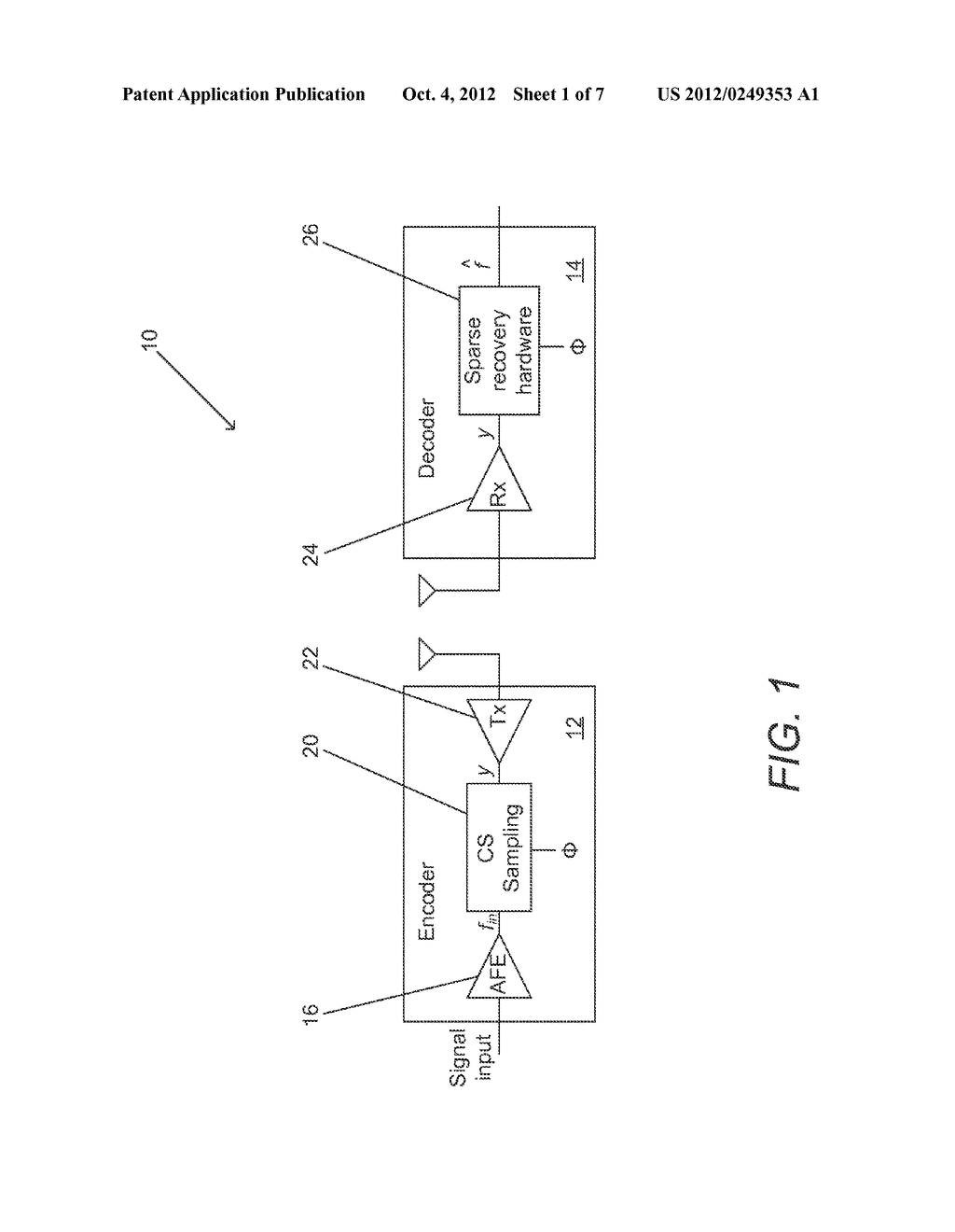 SYSTEMS AND METHODS FOR ACQUIRING AND DECODING SIGNALS USING COMPRESSED     SENSING - diagram, schematic, and image 02
