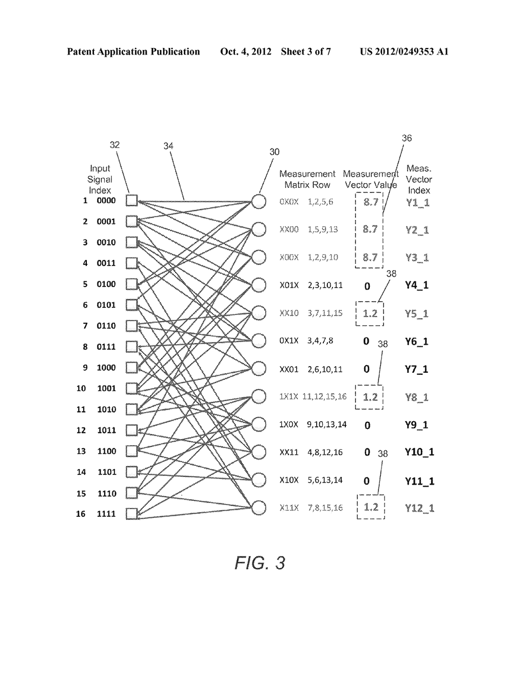 SYSTEMS AND METHODS FOR ACQUIRING AND DECODING SIGNALS USING COMPRESSED     SENSING - diagram, schematic, and image 04