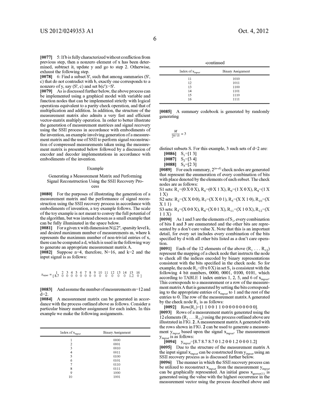 SYSTEMS AND METHODS FOR ACQUIRING AND DECODING SIGNALS USING COMPRESSED     SENSING - diagram, schematic, and image 14