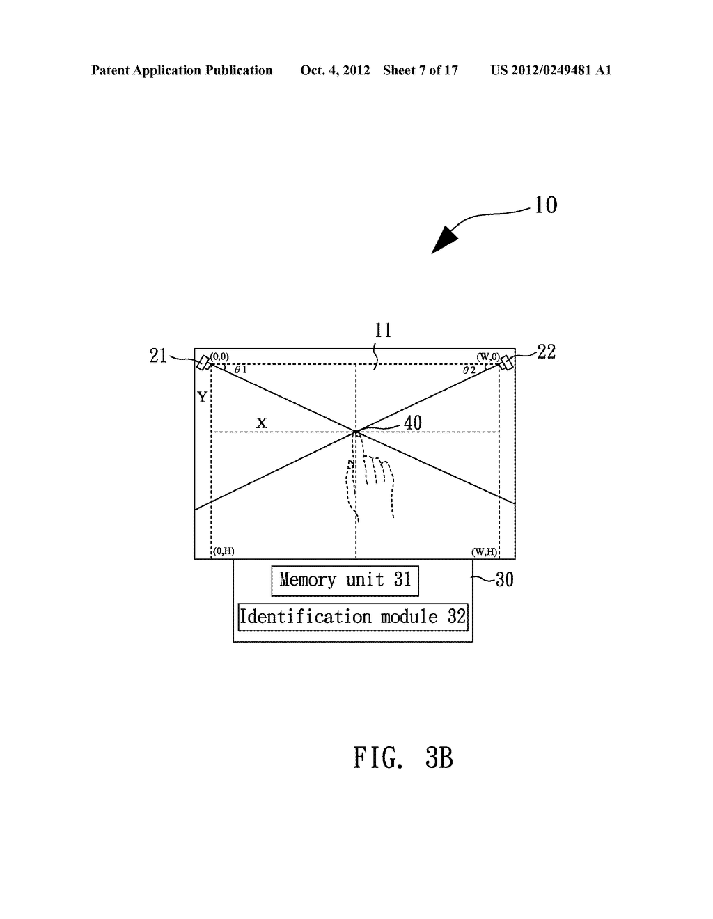 OPTICAL COORDINATE INPUT DEVICE AND COORDINATE CALCULATION METHOD THEREOF - diagram, schematic, and image 08
