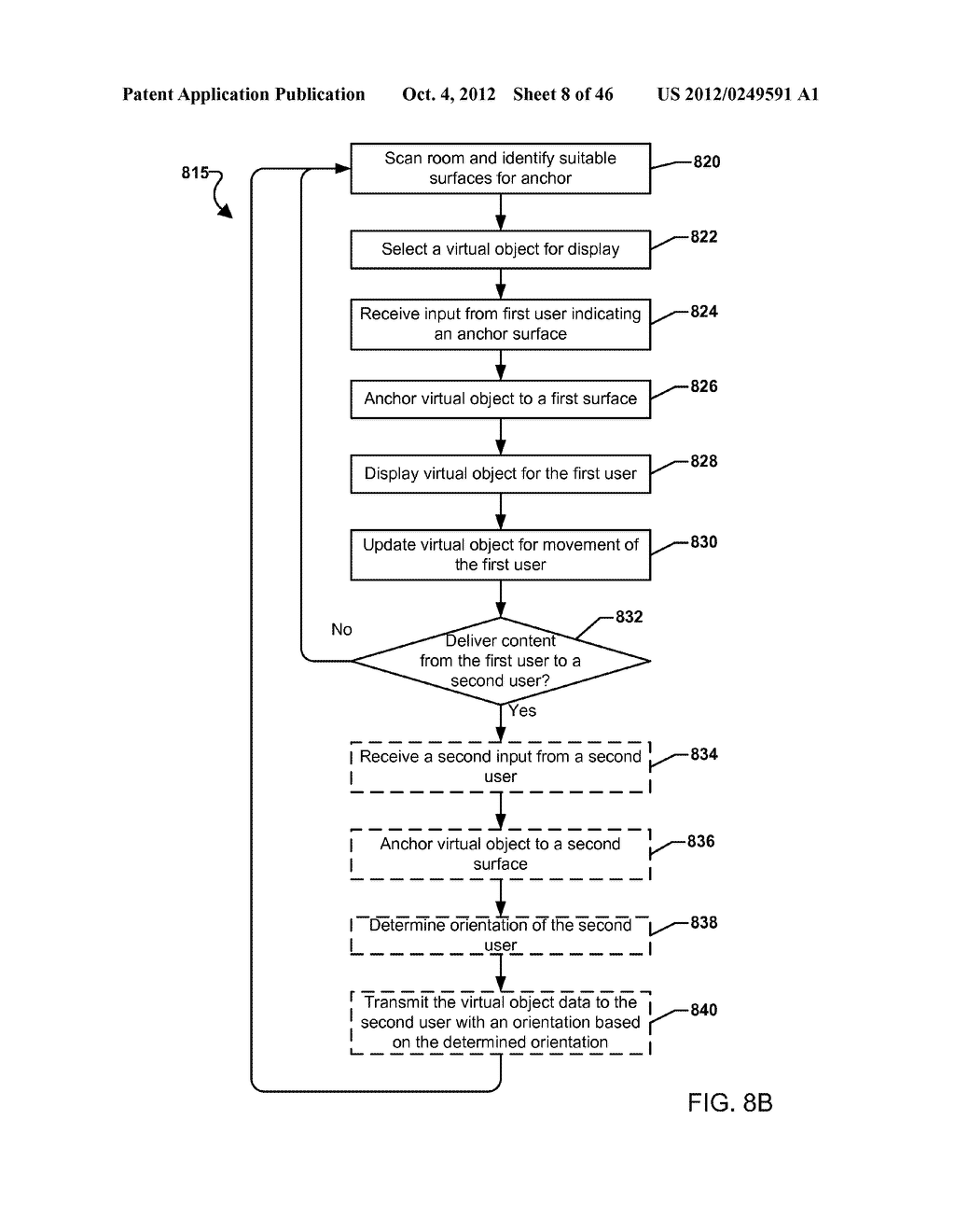 SYSTEM FOR THE RENDERING OF SHARED DIGITAL INTERFACES RELATIVE TO EACH     USER'S POINT OF VIEW - diagram, schematic, and image 09