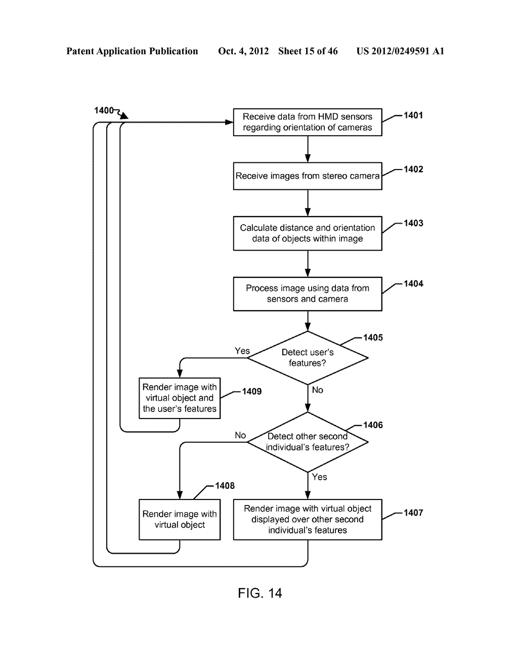 SYSTEM FOR THE RENDERING OF SHARED DIGITAL INTERFACES RELATIVE TO EACH     USER'S POINT OF VIEW - diagram, schematic, and image 16
