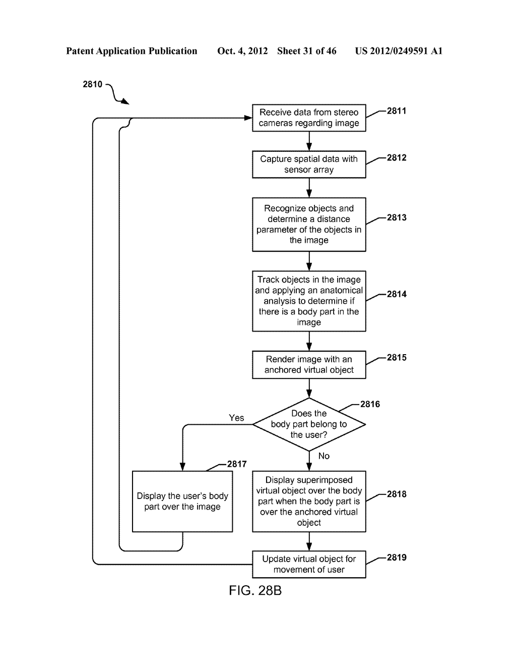 SYSTEM FOR THE RENDERING OF SHARED DIGITAL INTERFACES RELATIVE TO EACH     USER'S POINT OF VIEW - diagram, schematic, and image 32