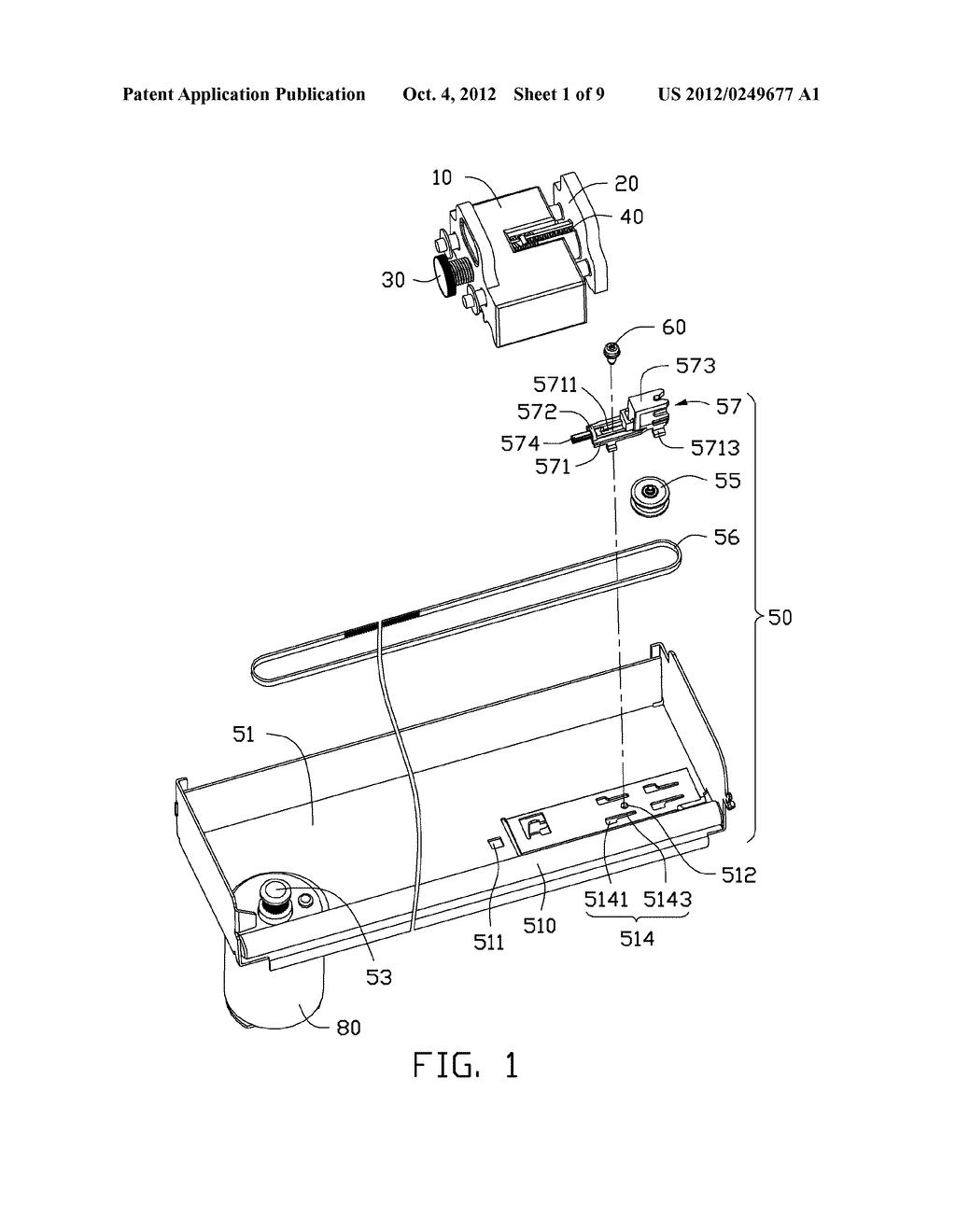 ADJUSTING DEVICE AND PRINTING APPARATUS WITH ADJUSTING DEVICE - diagram, schematic, and image 02