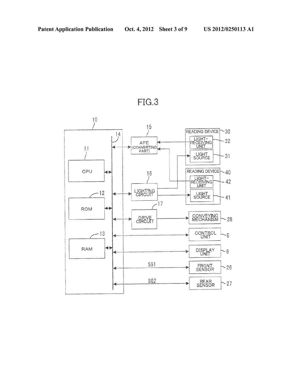 IMAGE PROCESSING DEVICE HAVING SHEET CONVEYING MECHANISM - diagram, schematic, and image 04