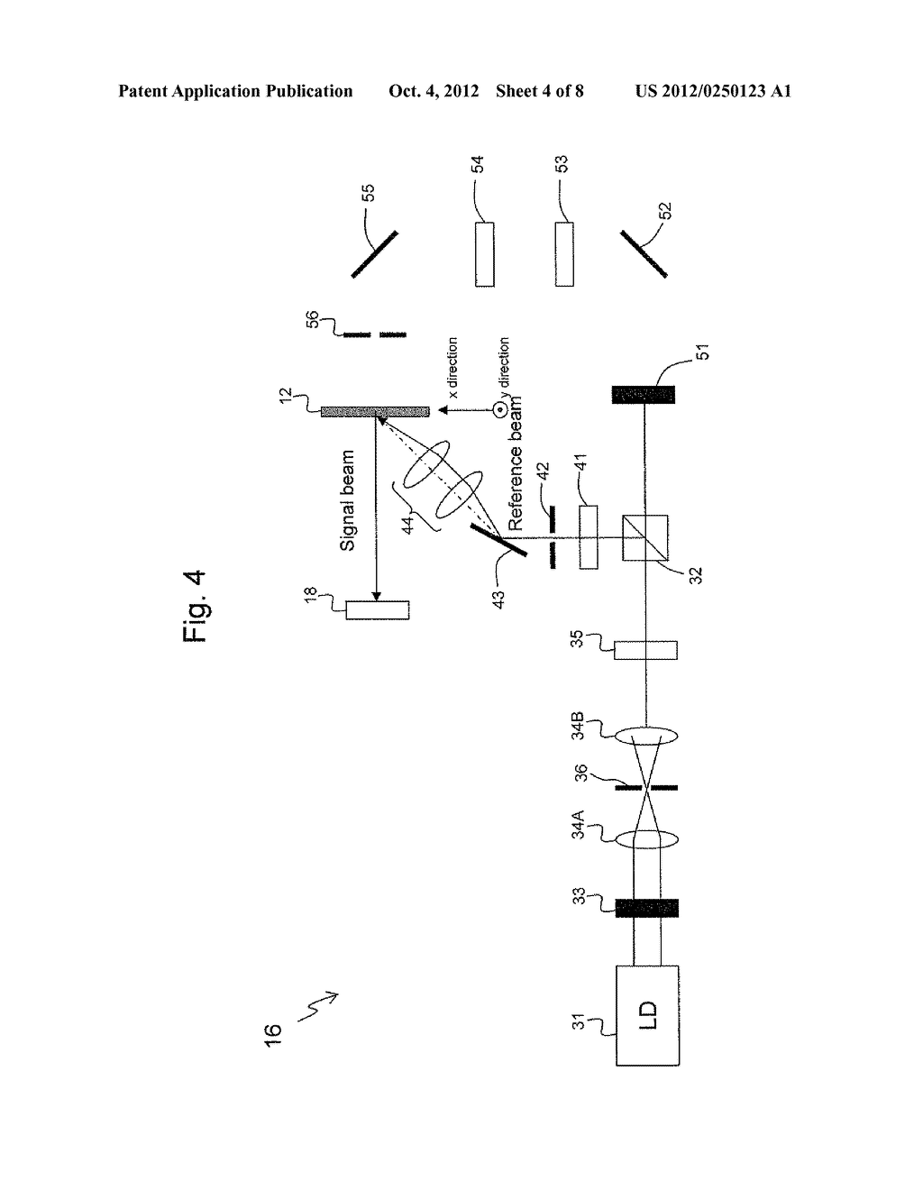 APPARATUS AND METHOD FOR EVALUATING HOLOGRAM IMAGE RECORDING MEDIUM - diagram, schematic, and image 05