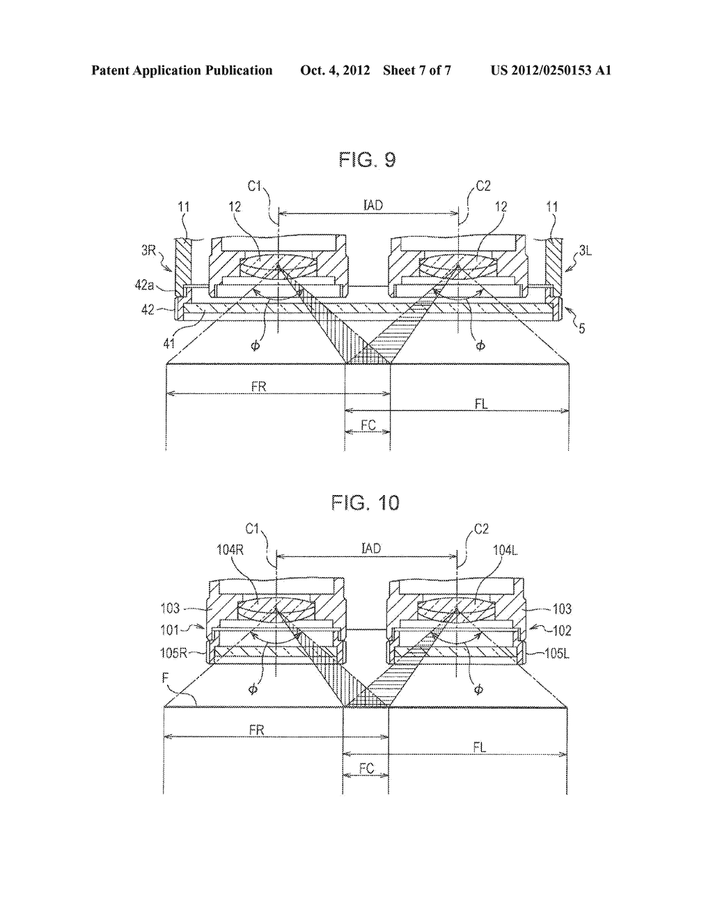 TWO-LENS DEVICE AND STEREOSCOPIC IMAGING APPARATUS WITH TWO-LENS DEVICE - diagram, schematic, and image 08
