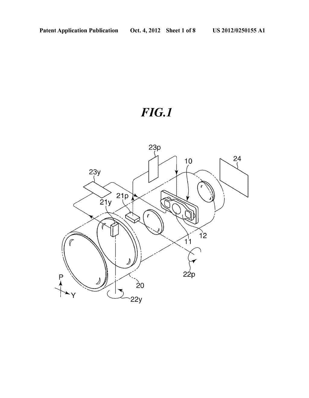 OPTICAL APPARATUS WITH MOVABLE MEMBER FOR SHAKE CORRECTION - diagram, schematic, and image 02