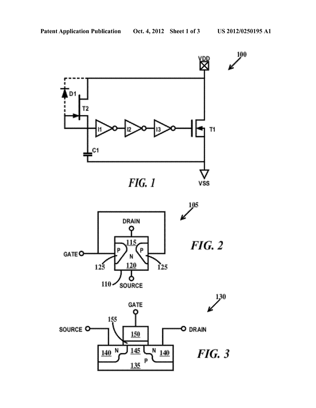 ELECTROSTATIC DISCHARGE POWER CLAMP WITH A JFET BASED RC TRIGGER CIRCUIT - diagram, schematic, and image 02