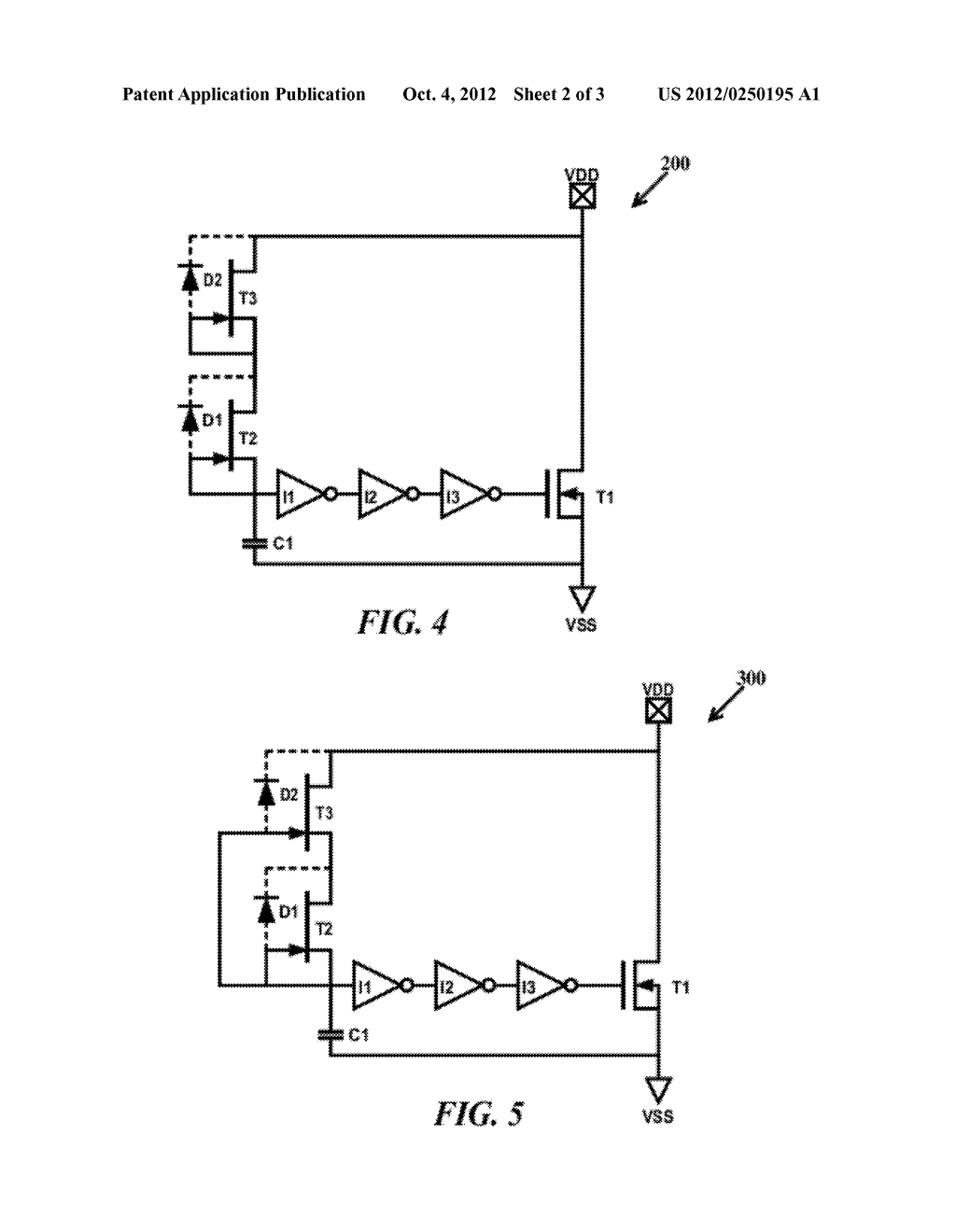 ELECTROSTATIC DISCHARGE POWER CLAMP WITH A JFET BASED RC TRIGGER CIRCUIT - diagram, schematic, and image 03