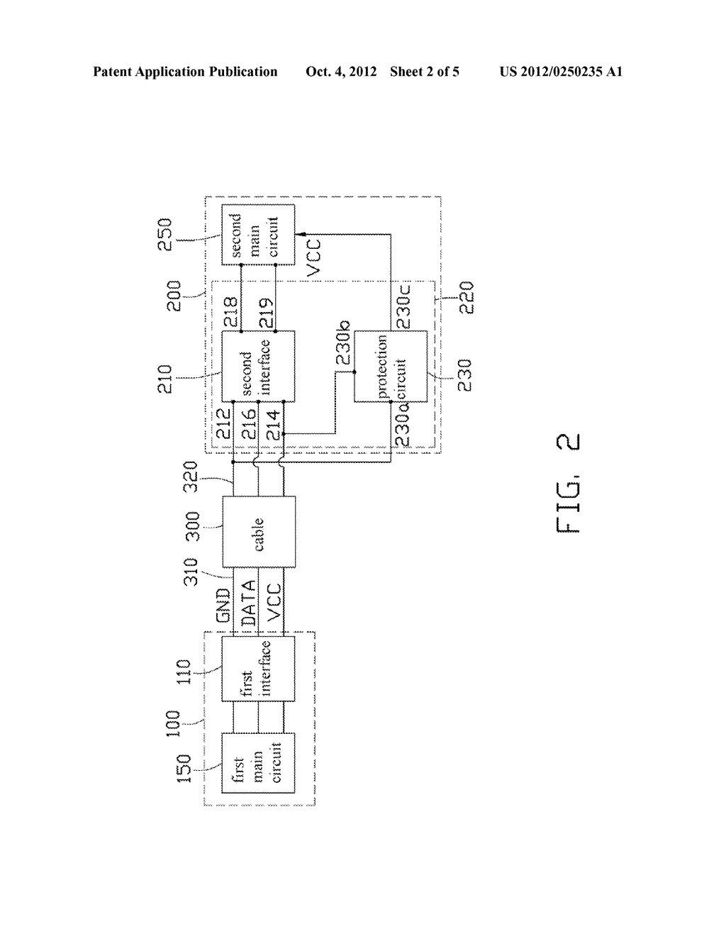 INTERFACE MODULE WITH PROTECTION CIRCUIT AND ELECTRONIC DEVICE - diagram, schematic, and image 03