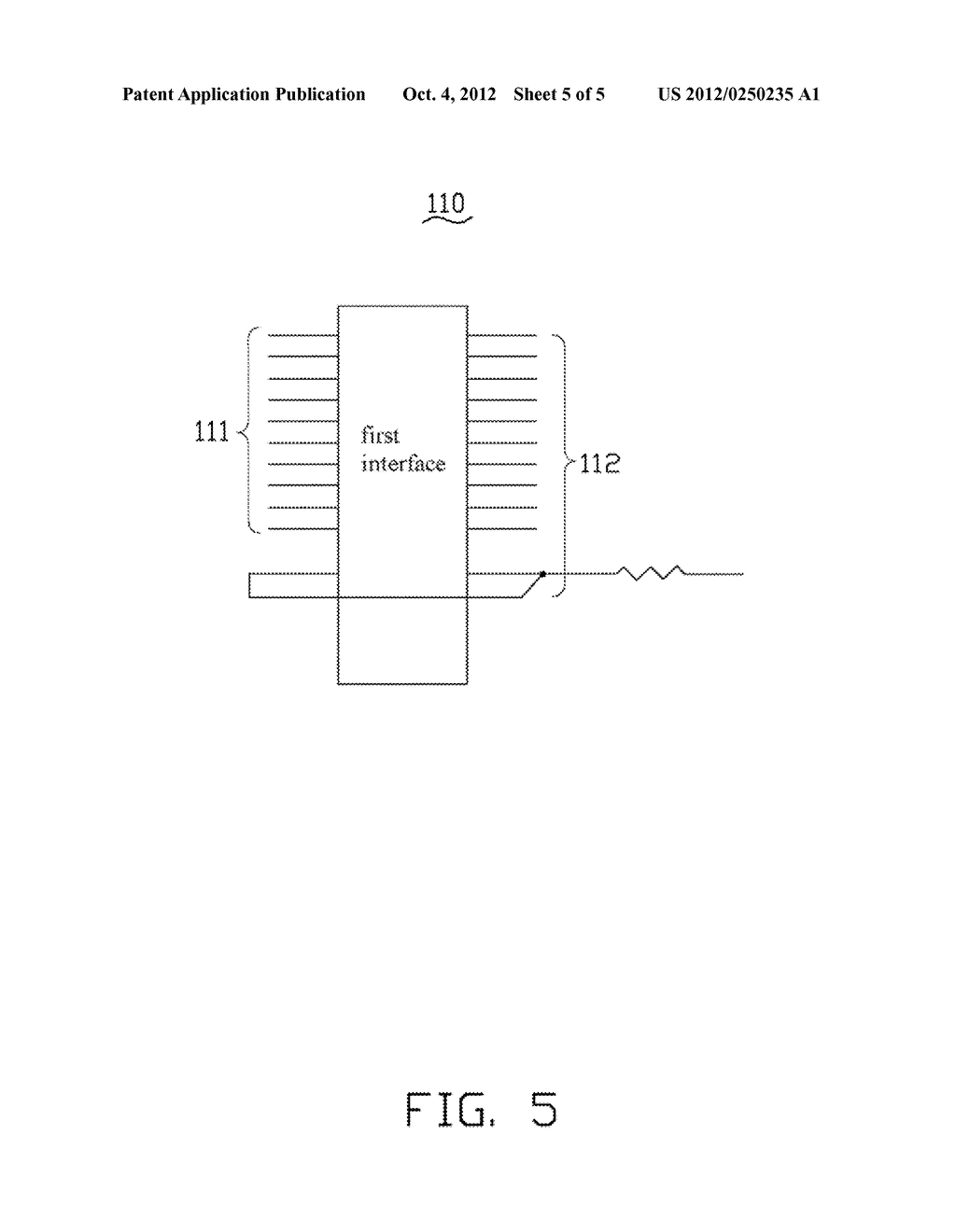 INTERFACE MODULE WITH PROTECTION CIRCUIT AND ELECTRONIC DEVICE - diagram, schematic, and image 06
