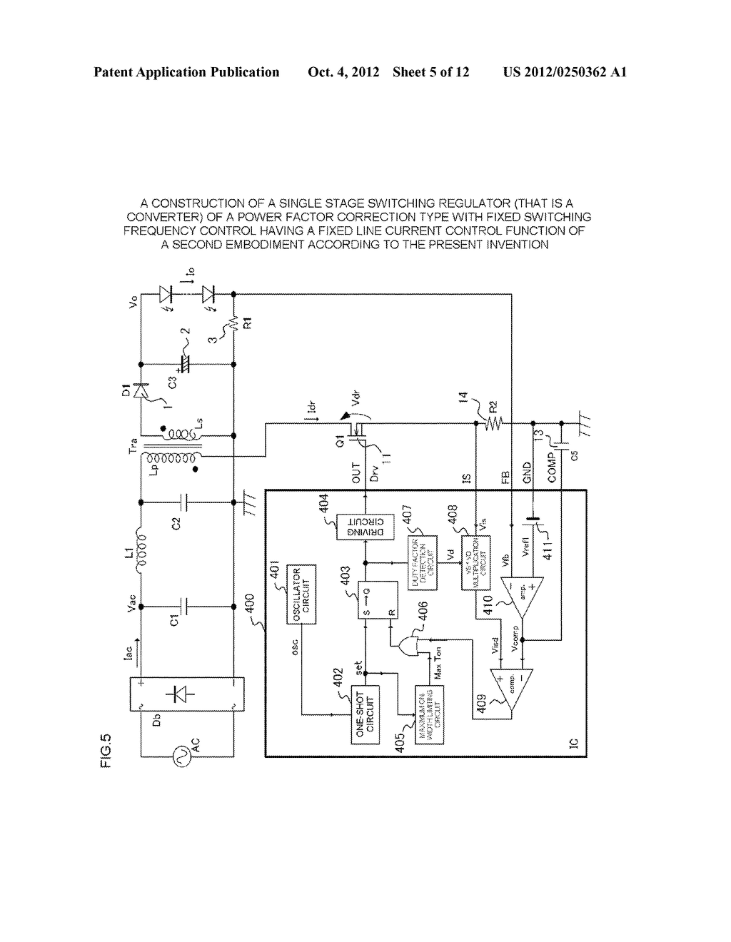 SWITCHING REGULATOR CONTROL CIRCUIT - diagram, schematic, and image 06