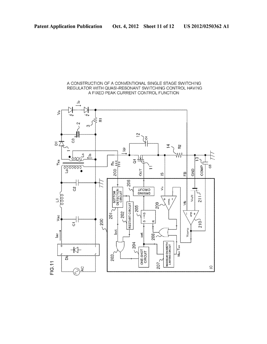 SWITCHING REGULATOR CONTROL CIRCUIT - diagram, schematic, and image 12