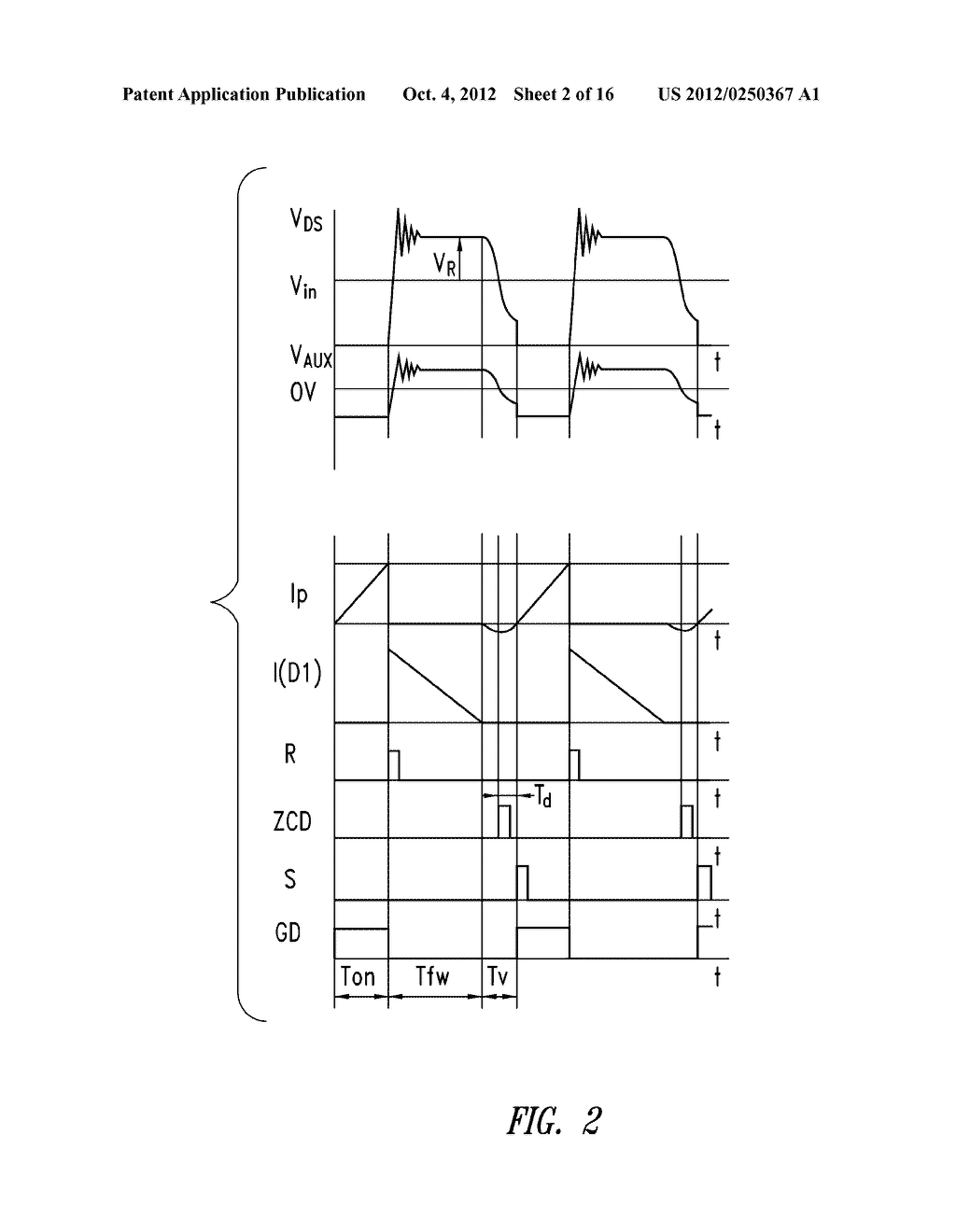 CONTROL DEVICE OF THE SWITCHING FREQUENCY OF A QUASI-RESONANT SWITCHING     CONVERTER AND RELATED CONTROL METHOD - diagram, schematic, and image 03