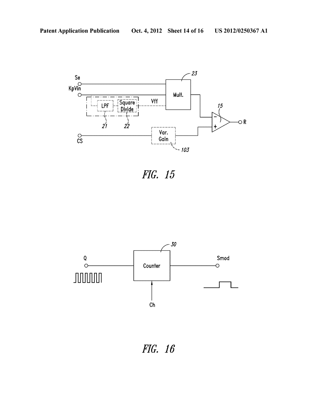 CONTROL DEVICE OF THE SWITCHING FREQUENCY OF A QUASI-RESONANT SWITCHING     CONVERTER AND RELATED CONTROL METHOD - diagram, schematic, and image 15