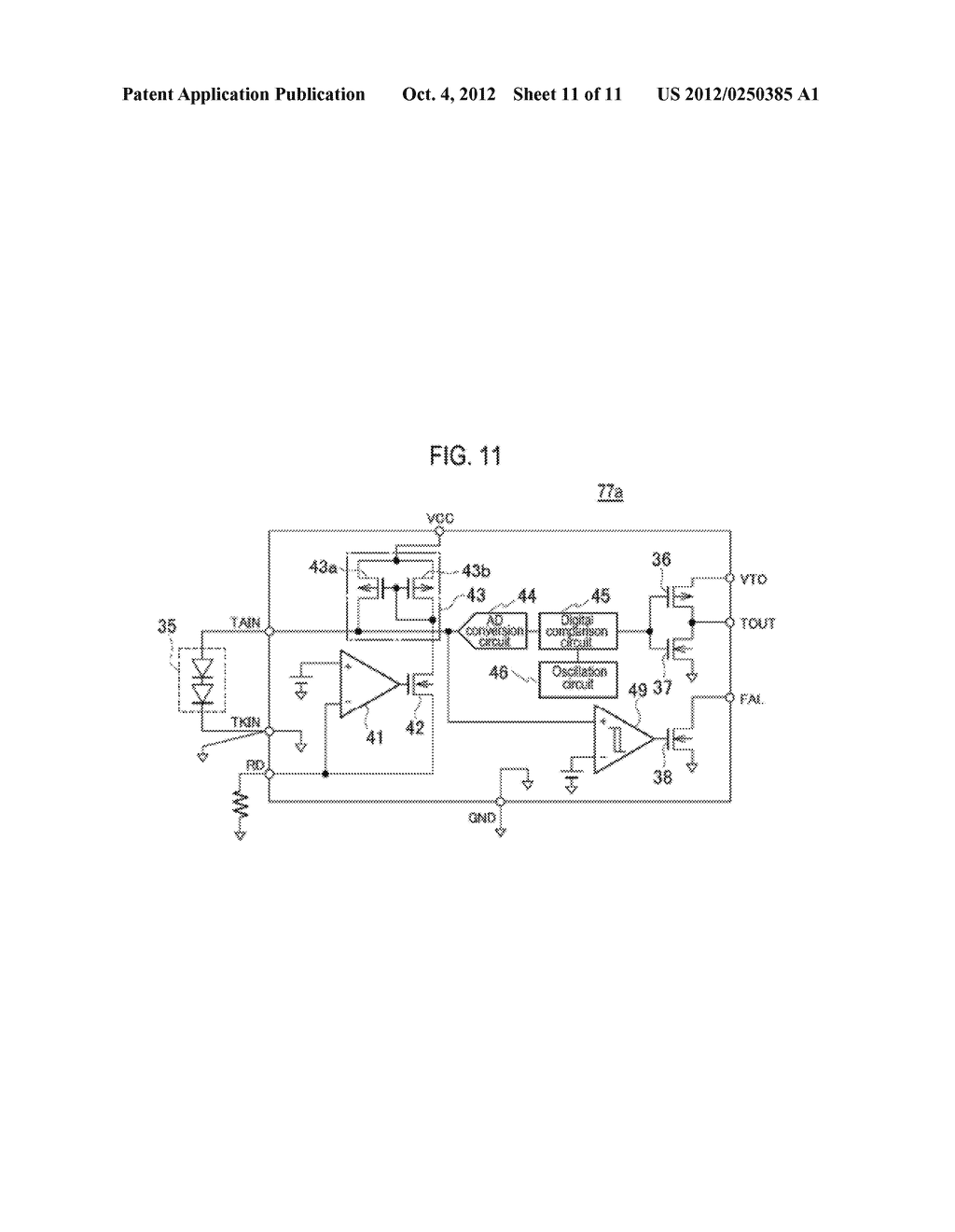 TEMPERATURE DETECTING APPARATUS, TEMPERATURE DETECTING CIRCUIT AND POWER     SEMICONDUCTOR MODULE - diagram, schematic, and image 12