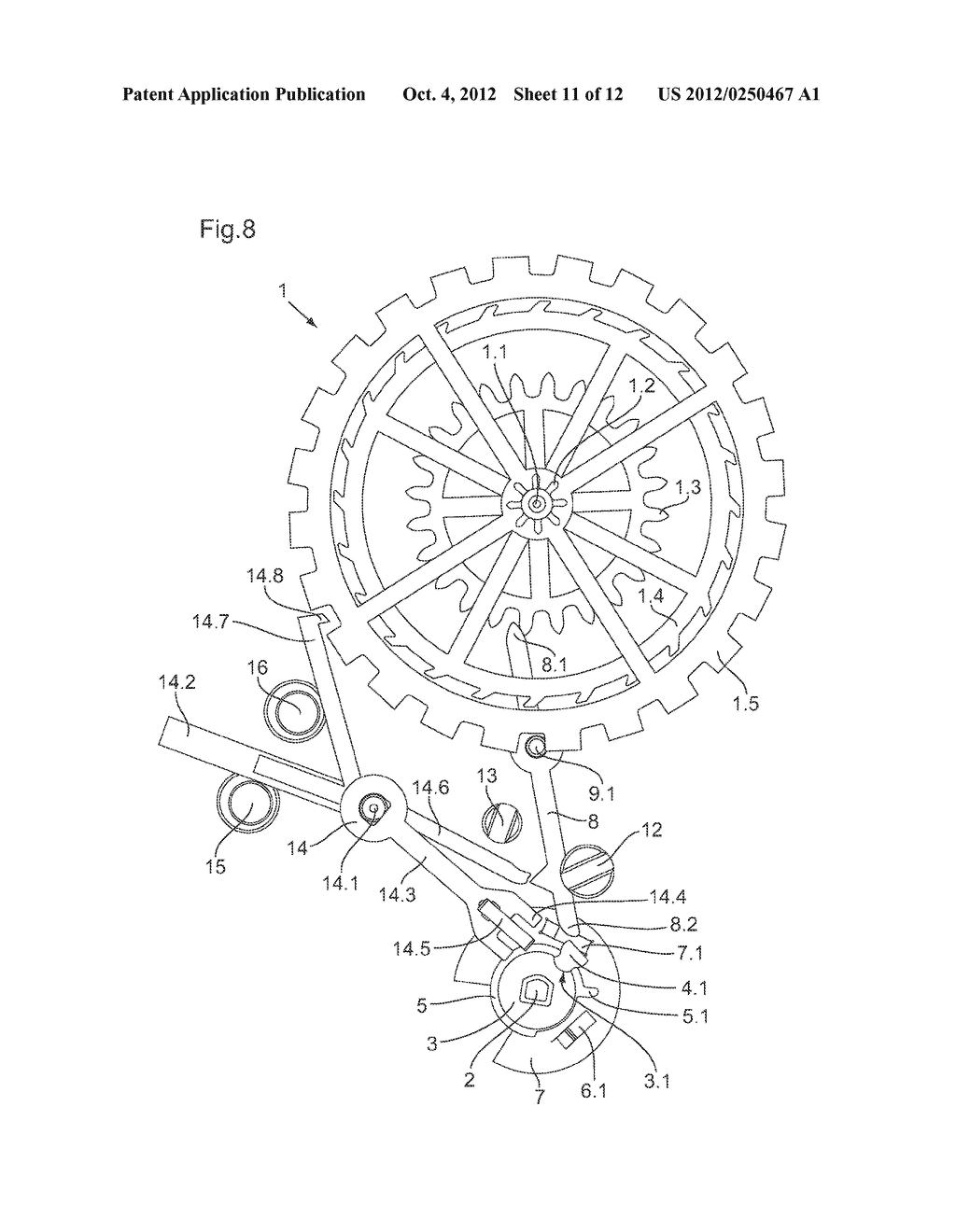 ESCAPEMENT MECHANISM IN PARTICULAR FOR A TIMEPIECE MOVEMENT - diagram, schematic, and image 12