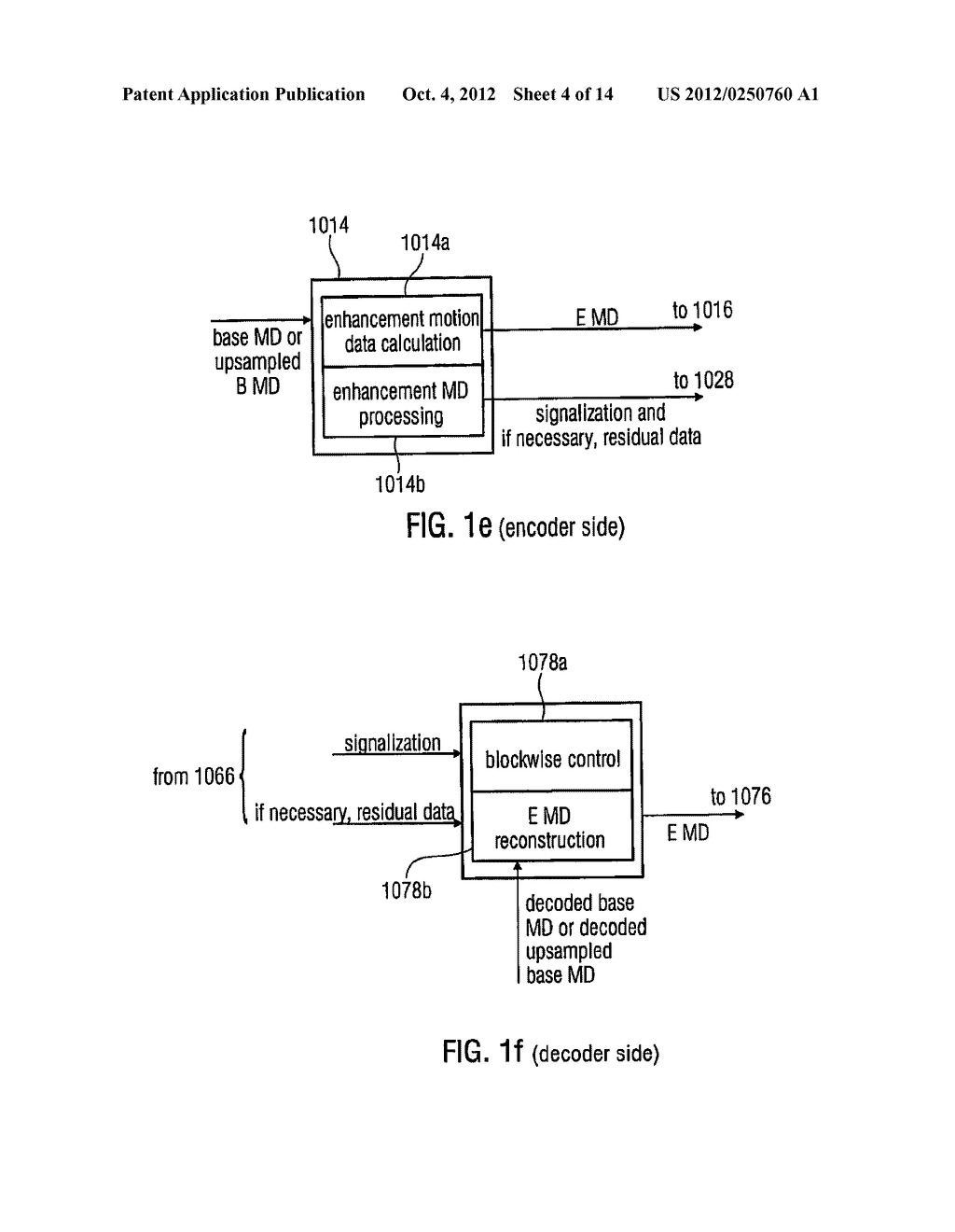 Apparatus and Method for Generating a Coded Video Sequence and for     Decoding a Coded Video Sequence by Using an Intermediate Layer Residual     Value Prediction - diagram, schematic, and image 05
