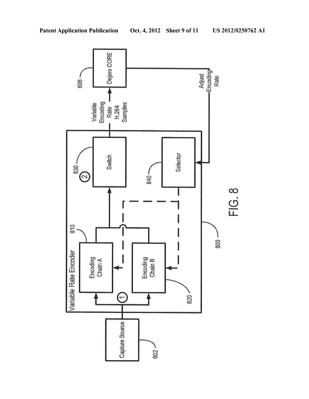 SYSTEM AND METHOD FOR IMPLEMENTATION OF DYNAMIC ENCODING RATES FOR MOBILE     DEVICES - diagram, schematic, and image 10