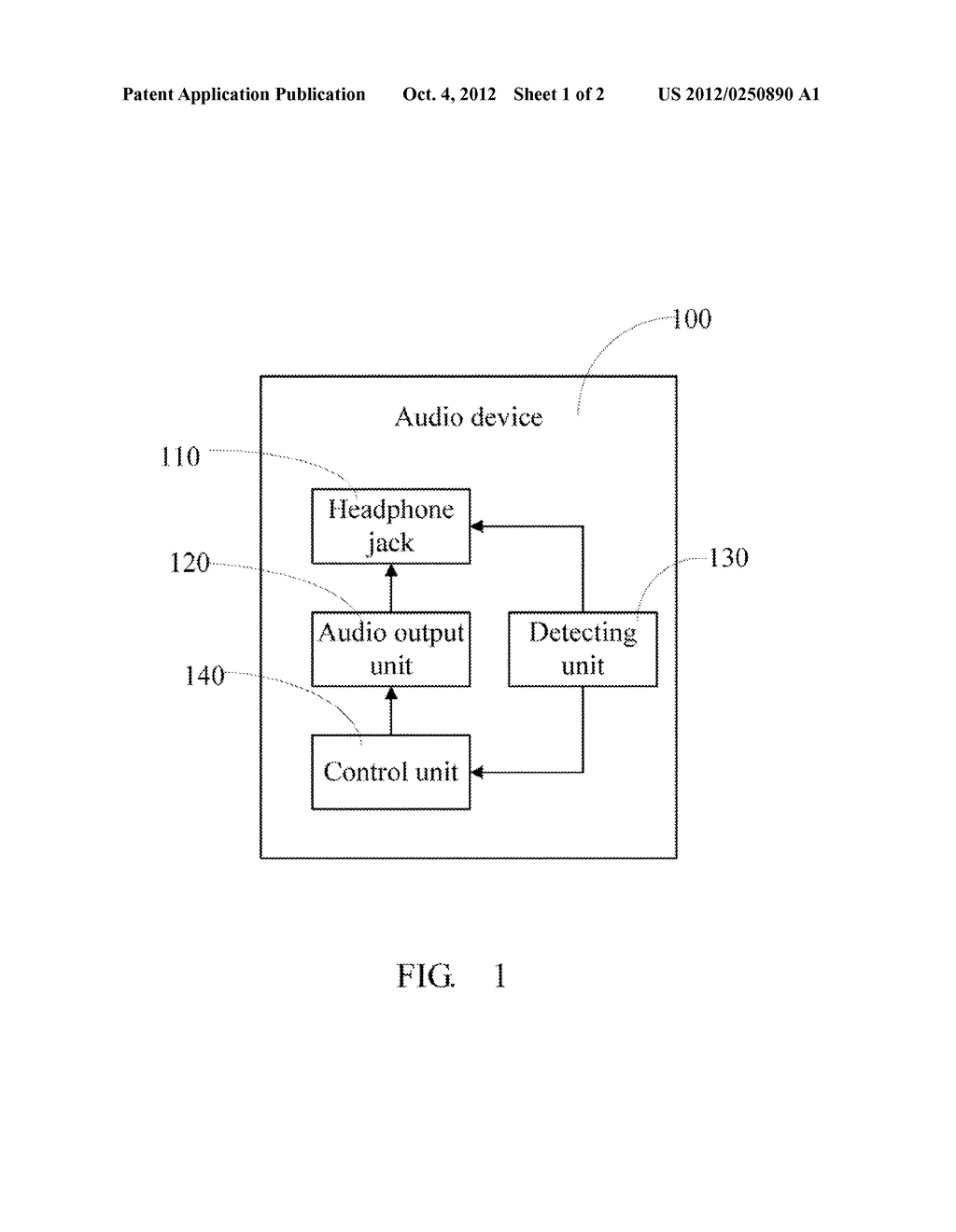 AUDIO DEVICE AND METHOD FOR AUDIO OUTPUTTING - diagram, schematic, and image 02