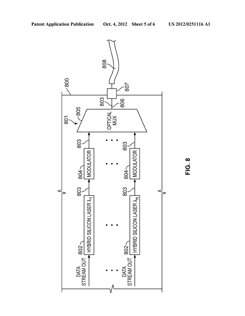 INTEGRATED OPTICAL-ELECTRONIC INTERFACE IN PROGRAMMABLE INTEGRATED CIRCUIT     DEVICE - diagram, schematic, and image 06