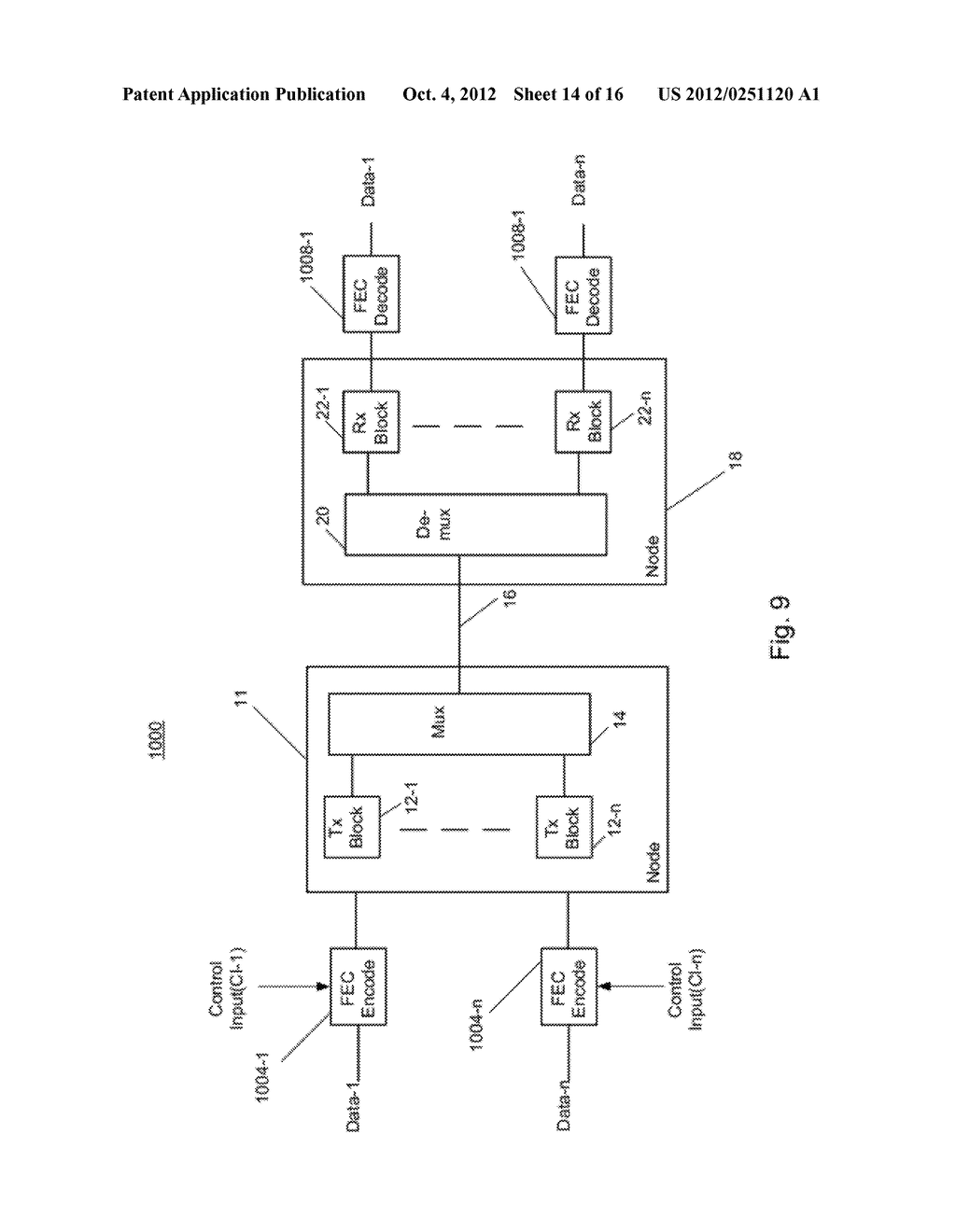 Multiplexer and Modulation Arrangements for Multi-Carrier Optical Modems - diagram, schematic, and image 15