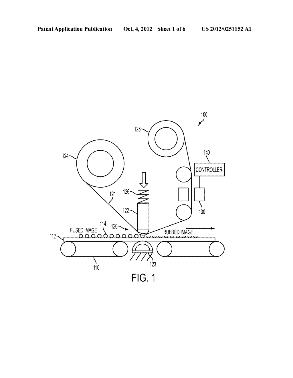 APPARATUS AND METHOD FOR MARKING MATERIAL FIX LEVEL CONTROL IN A PRINTING     APPARATUS - diagram, schematic, and image 02