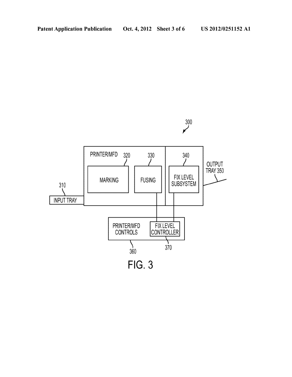APPARATUS AND METHOD FOR MARKING MATERIAL FIX LEVEL CONTROL IN A PRINTING     APPARATUS - diagram, schematic, and image 04