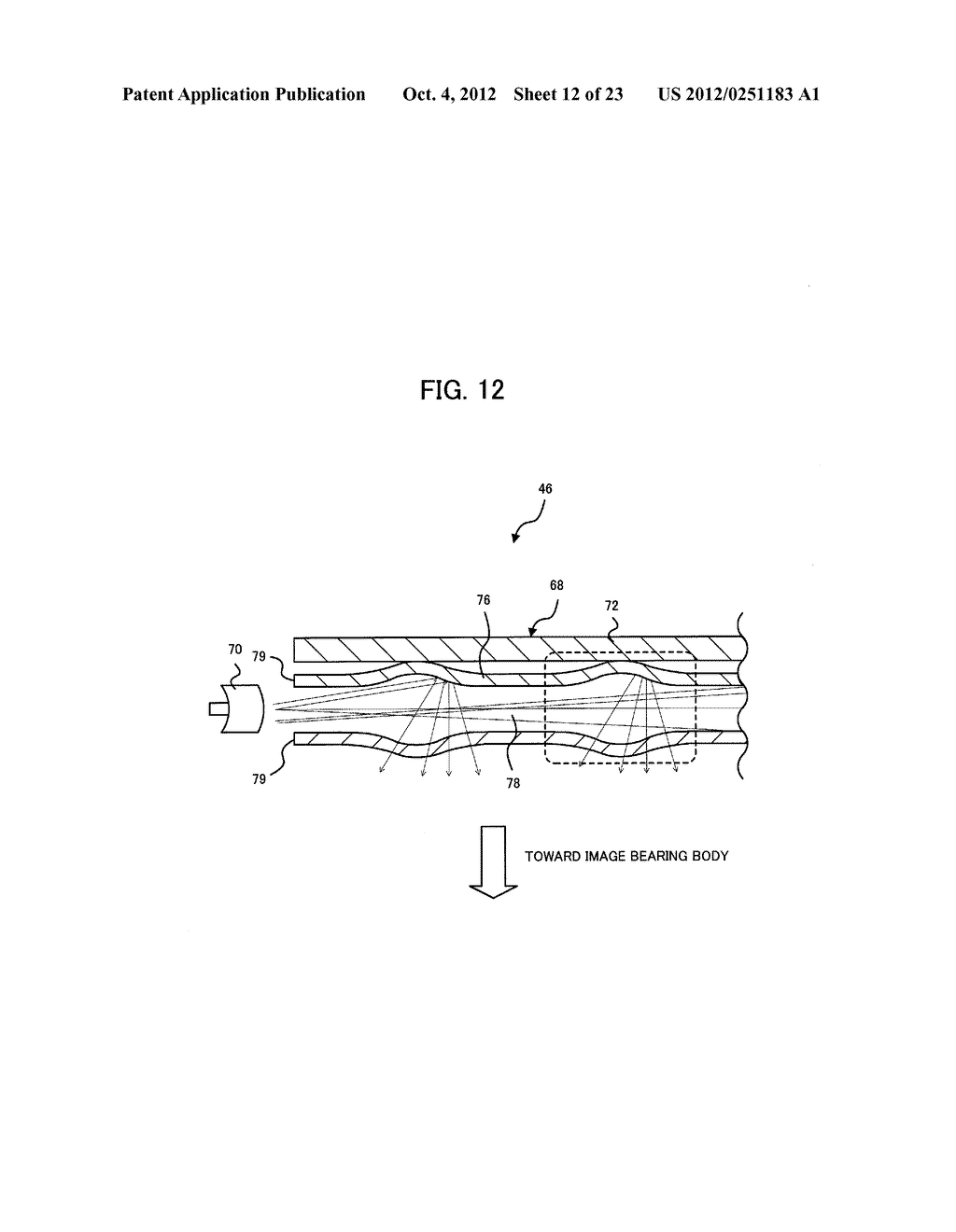 LIGHT IRRADIATION ELEMENT, IMAGE FORMING STRUCTURE, AND IMAGE FORMING     APPARATUS - diagram, schematic, and image 13